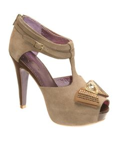 Take a look at this Mud Suede Manhattan T-Strap Pump by Poetic Licence on #zulily today!