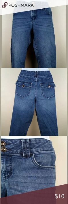 Vintage Retro Liz Claiborne Women Teen Demin Jean Blue Pants Capris Petite Size 6  NWT New With Tag  Never Worn