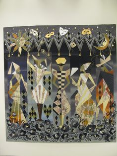 My Quilt Diary: Friends and a quilt show. Masquerade, by Toshiko Kurihara