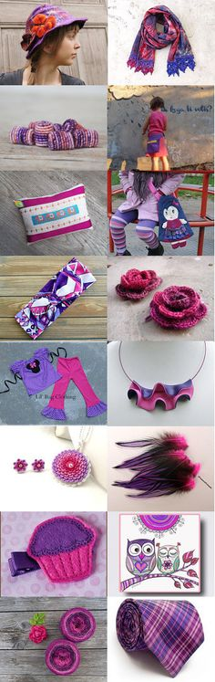 Purple meets pink! by Karin Pichler on Etsy--Pinned with TreasuryPin.com