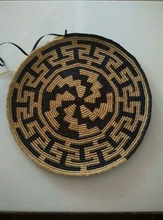 Gallery Grade sisal handmade basket by Tintsaba in Swa Diy Crochet Patterns, Tapestry Crochet Patterns, Crochet Mandala, Crochet Chart, Crochet Stitches, Crochet Projects, Crochet Handbags, Crochet Purses, Crochet Wallet