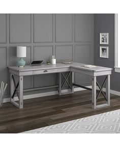 Ameriwood Home Broadmore L Shaped Desk With Lift Top & Reviews - Furniture - Macy's