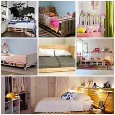 Europaletten Bett- 45 Alternativen für das Kinderzimmer - Доброе Утро Euro Pallets, Bench, Storage, Diy, House, Furniture, Gardening, Design, Home Decor