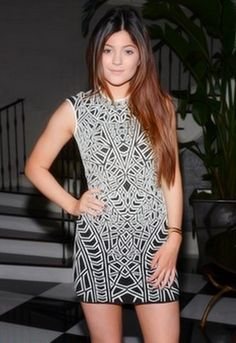 RVN Geo Textured Jacquard Knit Dress - as seen on Kylie Jenner.. WANT