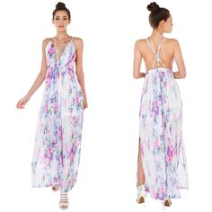 """""""The Rainbow"""" Multi Colored Maxi Dress Multi colored strappy maxi dress. Adjustable straps. Oh so pretty! Brand new. NO TRADES. PRICE FIRM. Bare Anthology Dresses Maxi"""