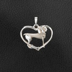Sterling Silver Weimaraner Pendant with Chain . 25% off through May 10th.  Apply Coupon MOTHERSDAYOFF25 at register