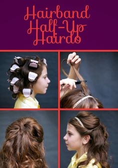 Hairband Half-Up Hairdo | a hair styles fit for a princess