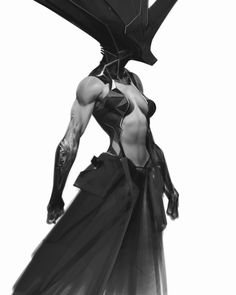You got too have a strong core to wear this hat. Character Concept, Character Art, Concept Art, Fantasy Characters, Female Characters, Dark Fantasy, Fantasy Art, Anthony Jones, Alien Art
