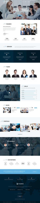 FINANBOX - Responsive Multipurpose Business & Corporate Business WordPress Theme