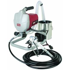 Get the power to tackle your biggest weekend projects with this airless paint sprayer. Decks, exterior walls, ceilings, doors and frames - this paint sprayer does it all. Pumps straight from 1 or 5 gallon buckets for easier cleanup. Paint Sprayer Reviews, Best Paint Sprayer, Stainless Steel Paint, Indoor Paint, Spray Hose, Harbor Freight Tools, Cool Paintings, Spray Painting, Painting Hacks