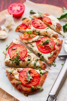 Pizza Margarita en masa plana