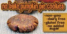 No Bake Pumpkin Pie Cookies- No GMOs, Gluten-Free, Dairy-Free and No Refined Sugars