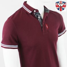 MPire Twin Tip Heritage Polo by Warrior Clothing- MAROON