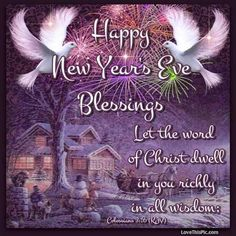 Happy New Year's Eve Blessings Quote With Prayer Pictures, Photos, and Images for Facebook, Tumblr, Pinterest, and Twitter
