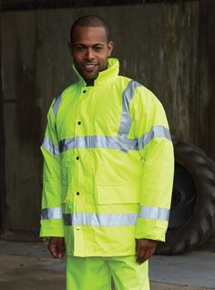 Yoko Hi-Vis Contractor Jacket - Under £24