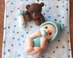 Polímero arcilla bebé  bebés miniatura  Mini bebé de por GnomeWoods