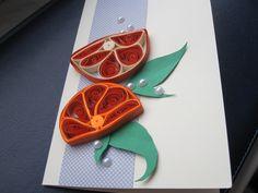 Kartka z pomarańczami