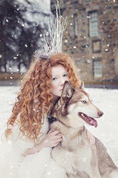 Huskia II  - Model- Saskia Bertschy  MUA - Sharon Lumsden Makeup Artist  Hair - Jenn Mathieson  Styling - Me   Dog - Tai