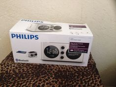 Bluetooth Speaker & Alarm Clock with 2-USB Charging Ports Philips Free S&H #Philips