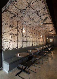 Imágenes del diseño de espacios en locales de ocio.