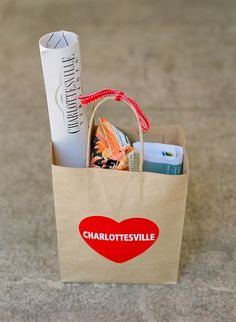 Charlottesville, VA wedding welcome bags. A. Dominick Events. Jodi Miller Photography: Photography - jodimillerphotography.com