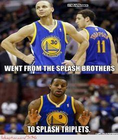 Golden State Warriors: Splash Brother to Splash Triplets!