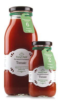 Jus de tomate Granny's Secret. Artisanal, Ketchup, Salsa, Jar, Food, Tomato Juice, Tomatoes, Natural Juice, Greedy People