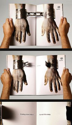 A very interesting print concept that immediately get the message across.
