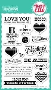 Avery Elle Clear Stamps LOTS OF LOVE Set 020504