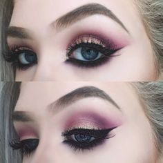 Cute eye make up Cat Makeup, Cute Eyes, Eye Make Up, Makeup Inspiration, Septum Ring, Makeup Looks, Halloween Face Makeup, Makeup Things, How To Make