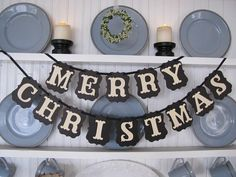 MERRY CHRISTMAS Banner for the Holiday Season by ParamoreArtWorks, $23.00