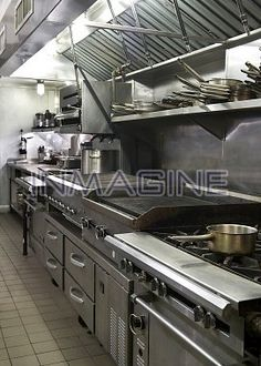 Interior of commercial kitchen photo