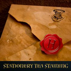 Following our tutorial you can create your own tea stained Hogwarts letterhead…