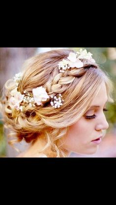 Beautiful hair for a wedding