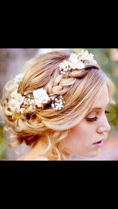 Beautiful hair for a wedding