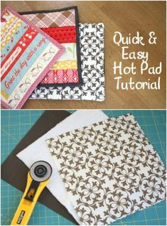 20 Easy DIY Pot Holders And Oven Mitts You Need In Your Kitchen – With Free Patterns,Just like closets and kitchen cabinets, you can really never have too many hot pads and oven mitts. I recently started putting together a gift basket . Sewing Machine Projects, Diy Sewing Projects, Sewing Crafts, Diy Crafts, Sewing Diy, Crafty Projects, Diy Simple, Easy Diy, Kitchen Hot Pads