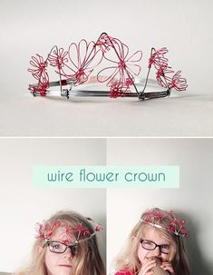 DIY Wire Flower Crown // via small for big