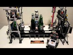 LEGO and beer. This LEGO Beer machine serves up 2 kinds of Dutch beers, opens the bottle and cools it down to a Lego Mindstorms, Legos, Beer Machine, Educational Robots, Lego Machines, Lego Robot, Beer Bottle Opener, Lego Projects, Best Beer