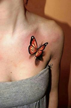 3D butterfly tattoo - Another version and color... I really love these.