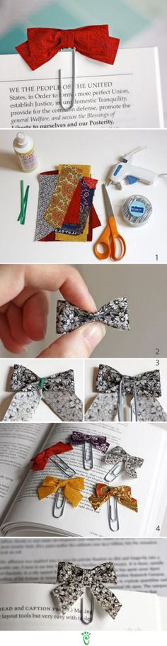 I love this idea! great gift for someone who works in an office, or get a jumbo paper clip and make a big bookmark