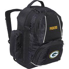 #Backpacks, #ConceptOne, #SchoolDayHikingBackpacks - Concept One Green Bay Packers Trooper Backpack Black - Concept One School & Day Hiking Backpacks