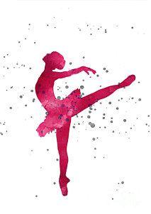 Painting - Pink Ballerina Nursery Art Print  by Joanna Szmerdt