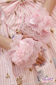 Cute pretty lacy pink