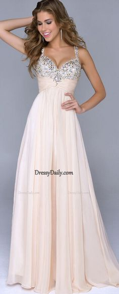 Spaghetti Gown With Beaded Bodice Prom Dress 2015 prom dress