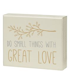 Another great find on #zulily! 'Great Love' Box Sign #zulilyfinds