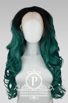 Stefani Emerald Green Ombre Lace Front Wig