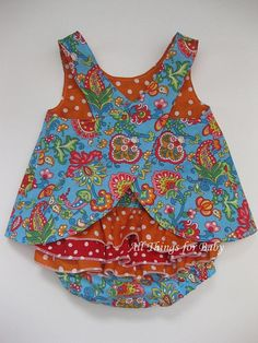 Pinafore and diaper cover