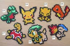 Hama Beads, Pokemon Perler Beads, Bead Patterns, Cross Stitch Patterns, Pixel Art, Small Cross Stitch, Melting Beads, Sprites, Bead Crafts