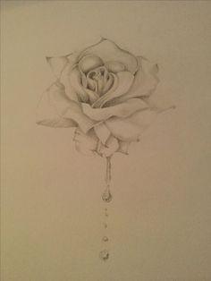 Rose drawing blood drop