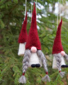 Swedish tomte ornaments jultomte nisse Swedish christmas